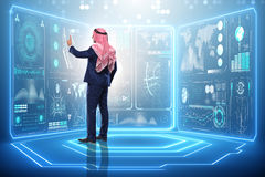 The arab man in data management concept Stock Images