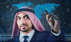 The arab man in data mining concept Royalty Free Stock Photo