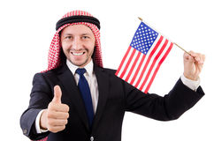Arab man. In diversity concept Royalty Free Stock Photography