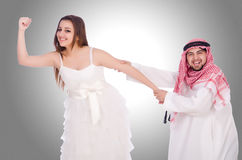 Arab man with his wife Royalty Free Stock Photo