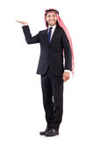 Arab man holding hands Royalty Free Stock Image