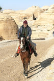 Arab man on horseback Royalty Free Stock Photos