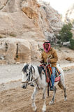 Arab man on horseback Royalty Free Stock Image