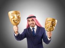 Arab man hypocrisy concept Royalty Free Stock Photo
