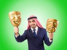 Arab man hypocrisy concept Royalty Free Stock Image