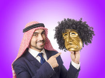 Arab man hypocrisy concept Royalty Free Stock Images