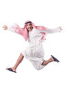 Arab man isolated. On the white Royalty Free Stock Photo