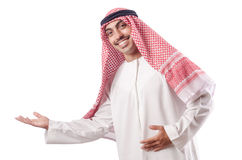 Arab man isolated on white Royalty Free Stock Images