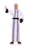 Arab man. Isolated on the white Stock Images