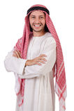 Arab man. Isolated on white Royalty Free Stock Photos