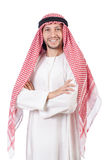 Arab man. Isolated on white Royalty Free Stock Photography