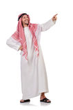 Arab man. Isolated on white Royalty Free Stock Photo