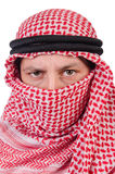 Arab man. Isolated on the white Stock Photography