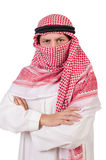 Arab man isolated. On the white Royalty Free Stock Photography