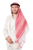 Arab man isolated. On the white Stock Photo