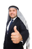 Arab man isolated on the white Stock Image