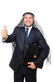 Arab man isolated on the white Stock Photo