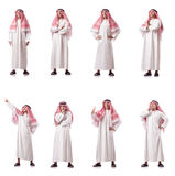 The arab man isolated on the white Stock Photos