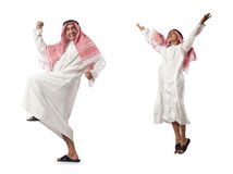 The arab man isolated on the white Royalty Free Stock Images