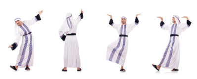 The arab man isolated on the white Stock Photography
