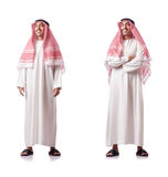 The arab man isolated on the white Royalty Free Stock Photography