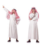 The arab man isolated on the white Stock Images