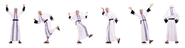 The arab man isolated on the white Royalty Free Stock Image