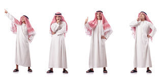 The arab man isolated on the white Stock Image