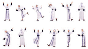 The arab man isolated on the white Royalty Free Stock Photos