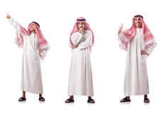 The arab man isolated on the white Royalty Free Stock Photo