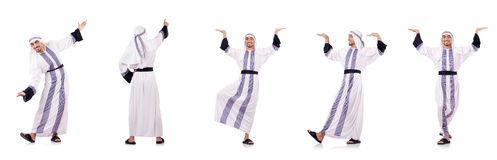 The arab man isolated on the white Stock Photo