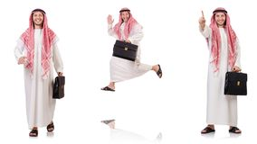The arab man isolated on white background Stock Images