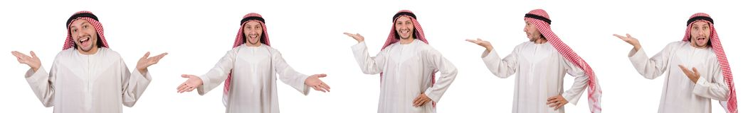 The arab man isolated on white background Royalty Free Stock Photo