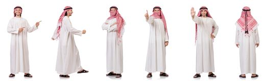 The arab man isolated on white background Royalty Free Stock Photography