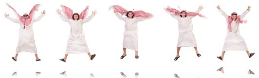 The arab man isolated on white background Stock Photography