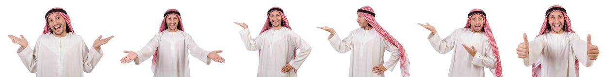 The arab man isolated on white background Royalty Free Stock Images