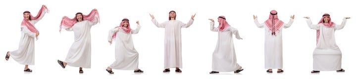 The arab man isolated on white background Stock Image