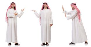 The arab man isolated on white background Royalty Free Stock Photos