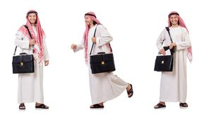 The arab man isolated on white background Royalty Free Stock Image