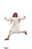 Arab man jumping from joy Royalty Free Stock Photos