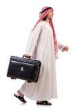 Arab man with luggage Royalty Free Stock Photos