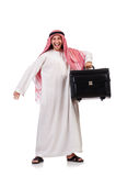 Arab man with luggage Stock Photos
