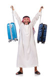 Arab man with luggage Royalty Free Stock Photo