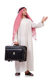 Arab man with luggage Stock Photography