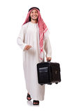 Arab man with luggage Royalty Free Stock Image