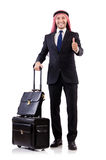Arab man with luggage Stock Images