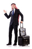 Arab man with luggage Stock Image
