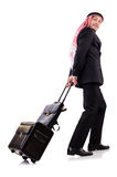 Arab man with luggage Royalty Free Stock Photo