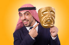 Arab man with mask Stock Images