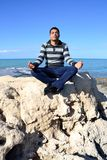 Arab man meditation Royalty Free Stock Photography